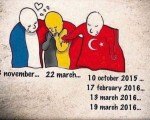 Turkish people are sharing this cartoon asking where our sympathy was for Istanbul and Ankara