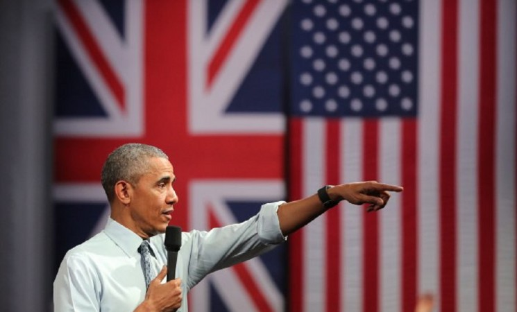 OBAMA WARNS BRITAIN NOT TO 'PULL BACK' FROM THE WORLD AT LONDON TOWN HALL