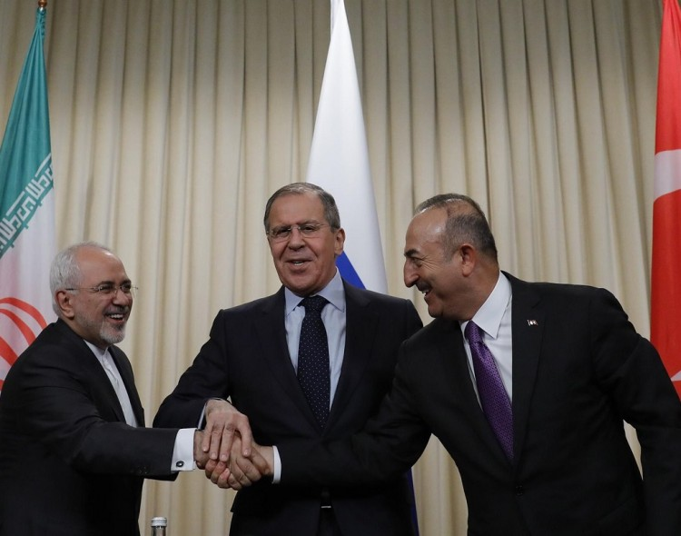 Russia, Turkey, Iran stress unity at Syria talks