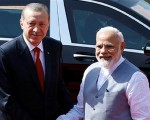 President Erdogan meets with India's Modi to boost bilateral relations