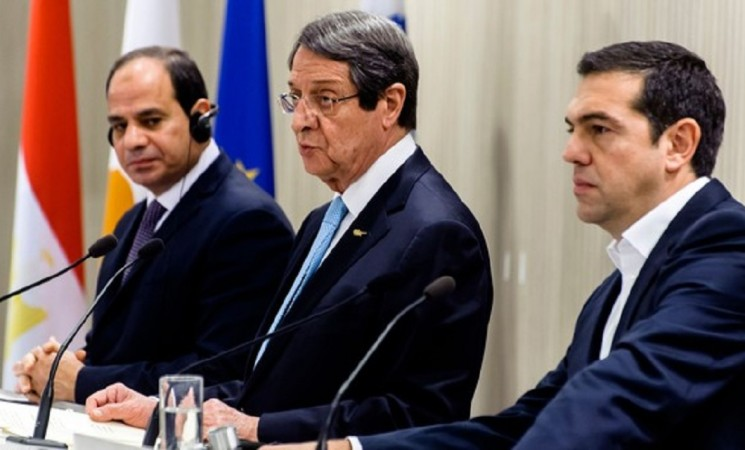 Leaders of Egypt, Greece, Greek Cyprus vow closer cooperation